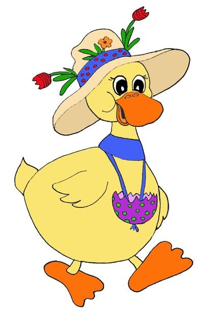 Ente mit Hut