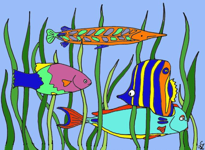ein aquarium  kindergaudi