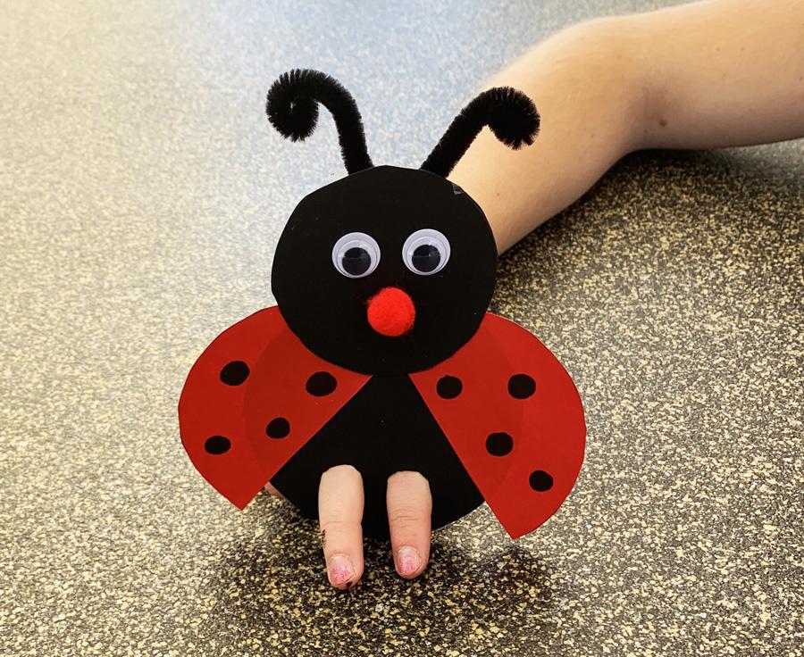 Ein Marienkäfer für die Finger