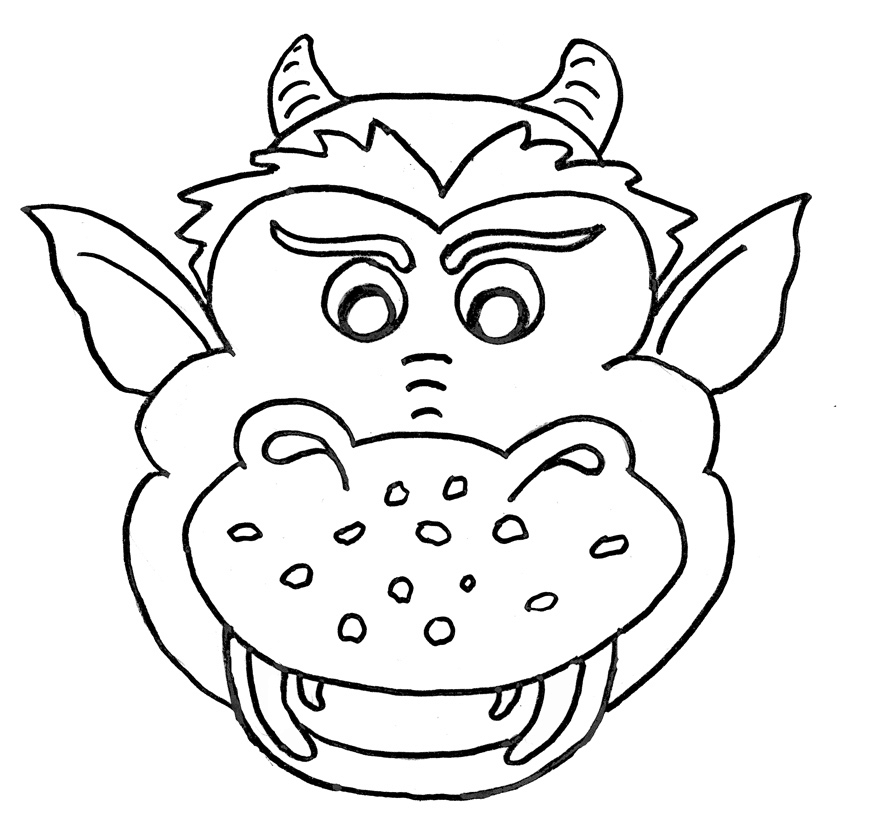 Lachender Drachenkopf