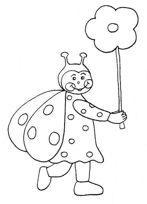 Ein Marienkäfer geht spazieren