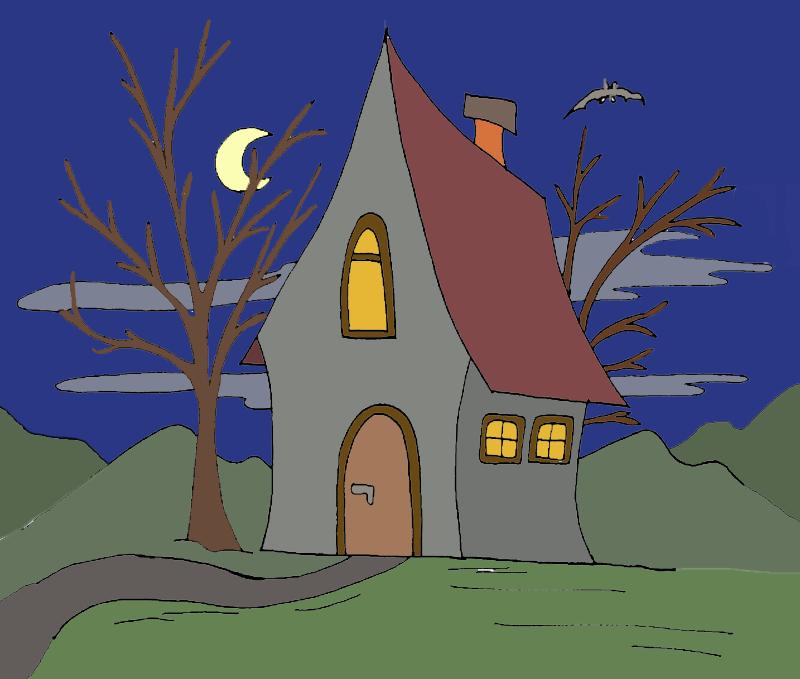 haus in der nacht  kindergaudi