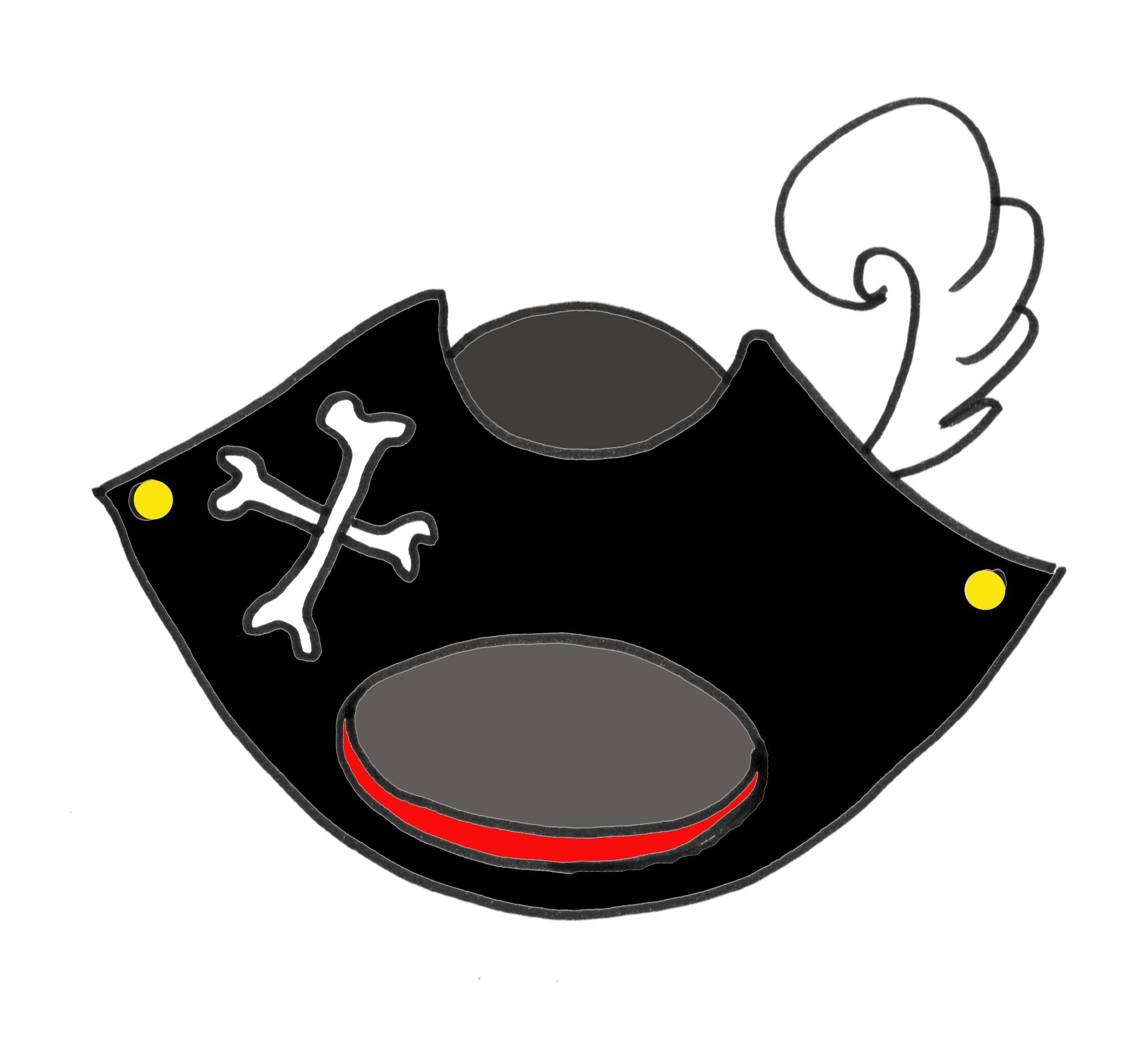 piratenhut mit feder  kindergaudi