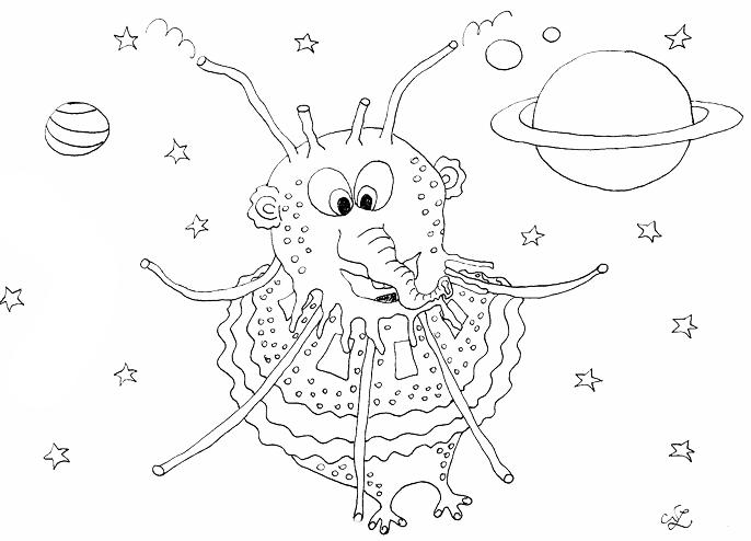 Außerirdischer auf Reise