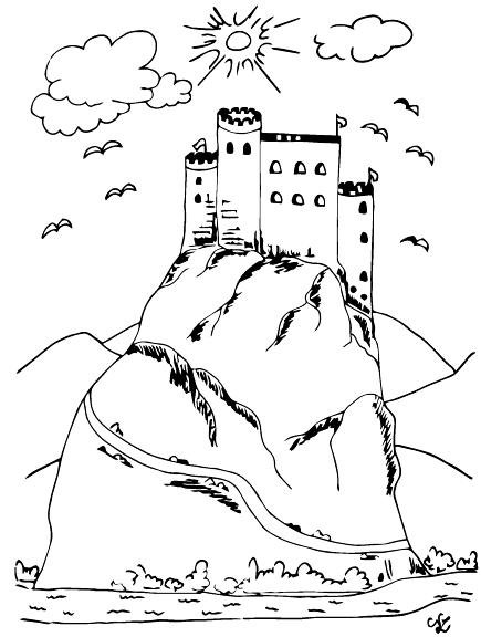 Burg auf einem Felsen