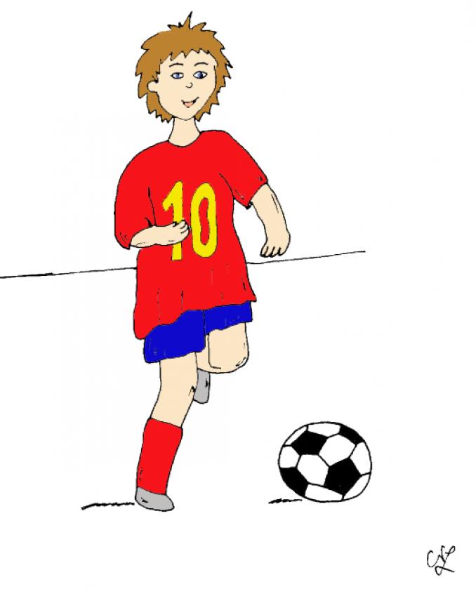 fußballspieler  kindergaudi