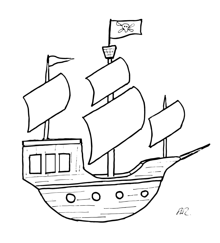 Kleines Piratenschiff