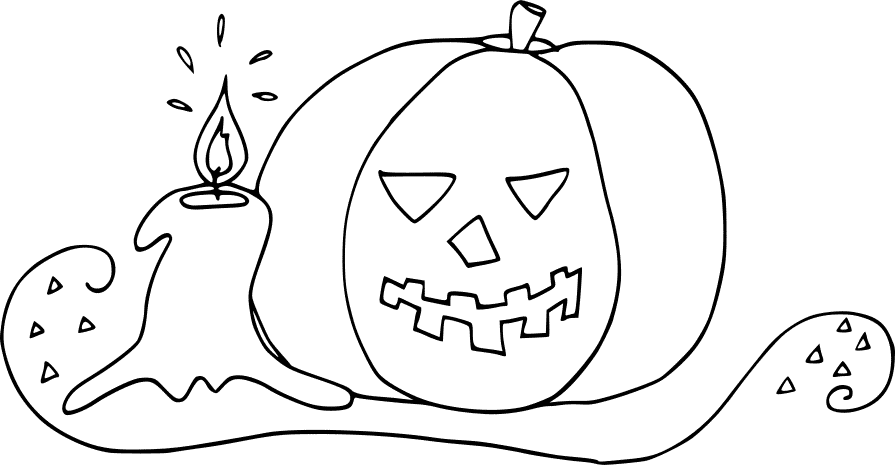 Kürbis mit Kerze
