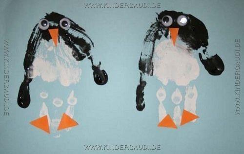 Pinguin-Handabdruck