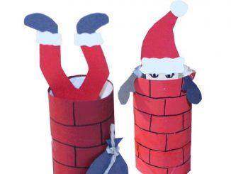 Weihnachtsmann-im-Schornstein