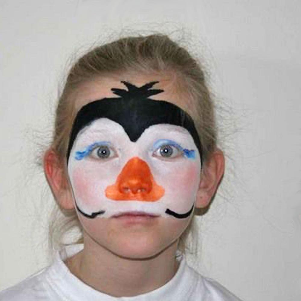 Schminktipp: Pinguin