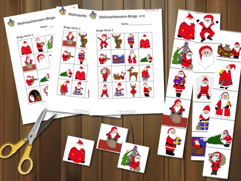 Weihnachtsmann-Bingo