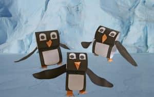 Papierstreifen Pinguin Szenenbild